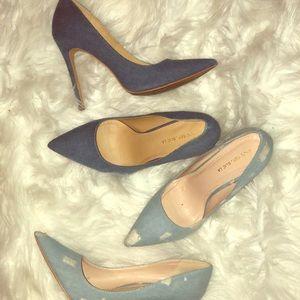 Shoes - Denim Heels 2 for $22!